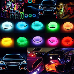 sky tube light NZ - DC12V 1 2 3 5M Waterproof plastic Flexible Neon LED EL Wire Cable Lamp Glow String Light Tube Party Wedding Decoration Light Car