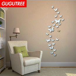 $enCountryForm.capitalKeyWord NZ - Decorate Home 3D buttlefly cartoon mirror art wall sticker decoration Decals mural painting Removable Decor Wallpaper G-283