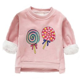 $enCountryForm.capitalKeyWord Australia - Baby Clothes Cartoon Print Baby Girl Sweater Top Winter Warm Plus Velvet Long Sleeve Kids Clothes Pullover