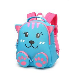 toddler boys gifts Australia - Toddler Girls Cartoon Cat Backpack Schoolbag For Girls Boys Children School Bags Student Kids Bag Gift Mochila Escolar Kindergarten