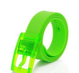 $enCountryForm.capitalKeyWord Canada - YD17-14colors 3.5cm Width Fluorescent Color Belt Men Women With Bubble Gum Belt Candy Belt Plastic Ladies PU Tranparent Color Belts 200pcs