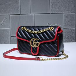 $enCountryForm.capitalKeyWord Australia - Top Quality design Letter Buckle Shoulder Chain Bag Women Genuine Leather 401231 Crossbody Messenger Bag