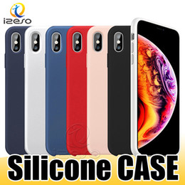Oem retail online shopping - OEM Quality Liquid Silicone Case for iPhone Xs Max Xr X Plus Gel Rubber Shockproof Phone Cases with Retail Box