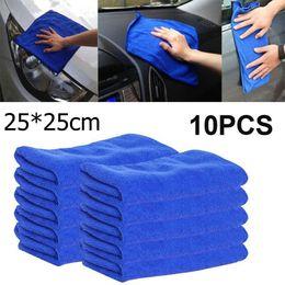 Details Auto Australia - 10x Microfiber Car Wash Towel Soft Cleaning Auto Car Care Detailing Cloths Wash Towel Duster 9.84'' x 9.84''Inch