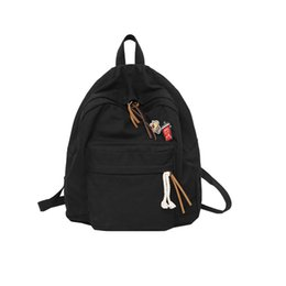 $enCountryForm.capitalKeyWord NZ - High Quality Women Backpack Solid Candy Colors Cotton Lady Backpack for Girls School Shoulder Bag Casual Fashion Travel
