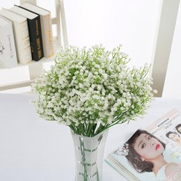 fake baby s breath flowers Australia - Hot Sale Artificial Gypsophila Baby s Breath Artificial Fake PU Flowers Plant for Home Wedding Decoration 50cm