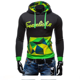 $enCountryForm.capitalKeyWord Australia - In The Autumn of 2017 New Men's Hooded Lace Color Matching Hoodies Chest Letter Stamp fashion fit clothes