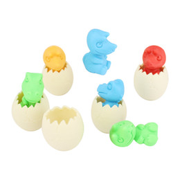 $enCountryForm.capitalKeyWord UK - Dinosaur egg rubber eraser animal removable eraser stationery school supplies Free shippingpapelaria gift toy for kids penil eraser toy gift