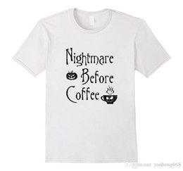 plus size short sleeve denim shirt 2018 - Shirt Plus Size T Shirt Regular Short O-Neck Mens The Nightmare Before Coffee Tee Shirt cheap plus size short sleeve den