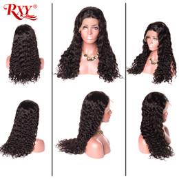 $enCountryForm.capitalKeyWord Australia - Rxy Mongolian Curly Human Hair Wig 360 Full Lace Human Hair Wigs Water Wave Virgin Human Hair Lace Wigs Water Curly 8-26 Inch