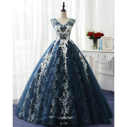 $enCountryForm.capitalKeyWord Australia - 2019 hot sale ball gown cap sleeve lace appliques prom dress real picture v neckline princess formal prom gowns Graduation Dresses