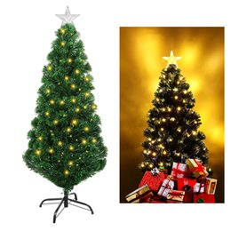 optic fiber gifts Australia - UNOMOR 47 Inch Multicolor Fiber Optic Christmas Tree with Stand Home Party Xmas Decoration Christmas Gift (US Plug) A20