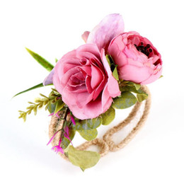 Flowers mix online shopping - Straw Garland Flowers Bracelet Wrist Band Party Wedding Bridesmaid Bride Colors Mix Multiple Styles Fashion EEA92