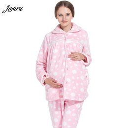 23983cb489a01 New Pregnant Winter Nursing Pajamas Set Maternity Sleep Lounge Clothings  Pregnant Pyjama Breastfeeding Gravidity Sleepwear