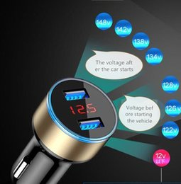 Rohs Charger Australia - High quality mobile car charger, dual port usb car charger, quick charging hole display, ROHS certification and CE certification(wholesale)