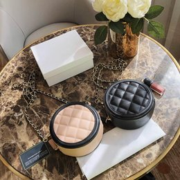 $enCountryForm.capitalKeyWord Australia - Womens Designer Luxury Small Round Shoulder Bags Black Mike White Leather Handbags Lady Fashion Mini Handle Bag Chain Totes with box