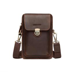 $enCountryForm.capitalKeyWord Australia - Men\'s handbag shoulder bag Men\'s high quality Cross Body bag leather retro shoulder bag mobile wallet