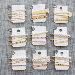 Wholesale Women Fashionable Tops Australia - New arrival high quality pearl hairpin fashionable trend top selling wholesale custom women pearl hair clip hairgrips