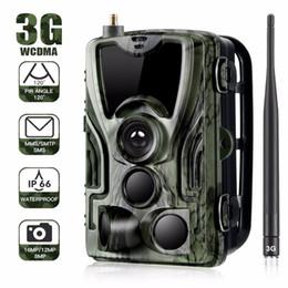 Wholesale Suntek HC-801G 3G MMS SMTP SMS Trail camera Hunting camera 940nm IR LED photo traps 16mp 1080p HD night vision scout animal camera