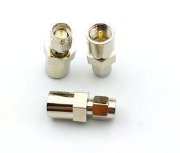 Опт 50 шт. Латунный адаптер FME Plug Мужчина для SMA Мужской разъем RF разъема