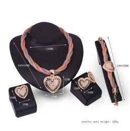 $enCountryForm.capitalKeyWord Australia - jewelry sets necklaces studs bracelets rings set christmas festival Crystal Necklace Bracelet Statement Accessories