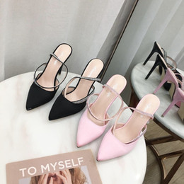 $enCountryForm.capitalKeyWord NZ - New Arrivals 2018 Patent Leather Thrill Heels Women Unique Designer Pointed toe Dress Wedding Shoes Sexy Black Red Letters heel Sandals