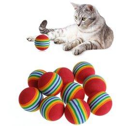 Halloween Balls Australia - Colorful Pet Rainbow Foam Fetch Balls Training Interactive Dog Funny Toy pet products