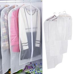 Suit Dust Protectors Australia - 3 Sizes Transparent Clothes Protector Storage Bag Hanging Garment Suit Dust Cover Wardrobe Organizer Women Dress Storage Bag DT0020