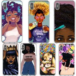$enCountryForm.capitalKeyWord Australia - Afro Black Girl Magic Melanin Phone Case For Iphone X Xr Xs Max Silicone Tpu Phone Cover For Iphone 5 5s Se 6 6s 7 7plus 8 8plus