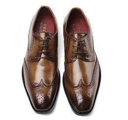 $enCountryForm.capitalKeyWord Australia - New Fashion Casual Mens Dress Shoes Brand Genuine Leather Crocodile Lace-up Italian Stylist Flat Formal Oxfords Wedding shoe 38~44