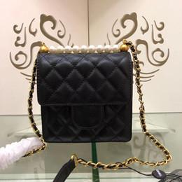 $enCountryForm.capitalKeyWord Australia - Hot New Fashion Designer Women Handbag Spearl Chain Cross Body Handbags Genuine Leather Mini Shoulder Bag Good Quality Coin Totel Purse 15cm