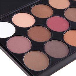 Light eyeshadow paLette online shopping - Hot sale Newest color eyeshadow with eye shadow brush the earth smoky palette pearl light makeup tray set foreign trade top seller