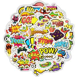 $enCountryForm.capitalKeyWord UK - 50 PCS Pop Style Text Sticker Toys for Children Creative Buzzword Hip-pop Stickers Gadgets Gift to DIY Scrapbook Laptop Suitcase