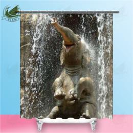 $enCountryForm.capitalKeyWord Australia - Vixm New High Quality Cute Elephant Shower Curtain Cute Animal Law Fighting Dog Waterproof Polyester Fabric Home Decor Bathroom Curtain