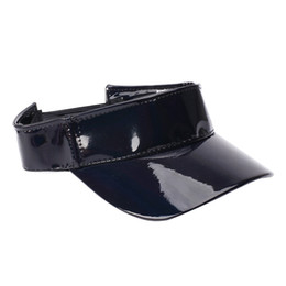 82035a9179e outdoor sports Visor Cap Empty Top Breathable UV Protection Portable  Leather Sun Hat Travel Accessories