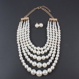 $enCountryForm.capitalKeyWord Australia - European and American vogue is joker simple sense individual character exaggerates necklace of banquet of multilayer pearl suit