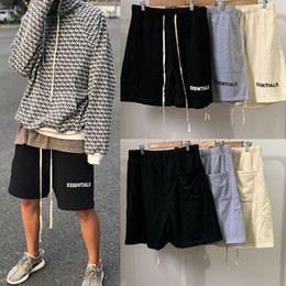 Elastic sash online shopping - Fear Of God Mens Designer Short Pants Fashion Mens Casual Pants Essentials Summer Shorts High Quality Casual Shorts