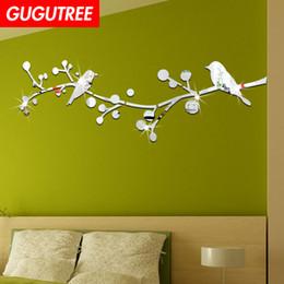 $enCountryForm.capitalKeyWord Australia - Decorate Home 3D flower bird cartoon mirror art wall sticker decoration Decals mural painting Removable Decor Wallpaper G-439
