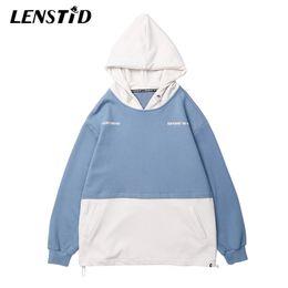 $enCountryForm.capitalKeyWord Australia - LENSTID Autumn Men Hip Hop Hoodies Sweatshirt Japanese Harajuku Hooded Pullover Streetwear Color Block Patchwork Brand Clothing