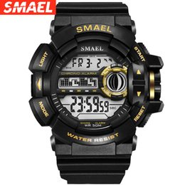 $enCountryForm.capitalKeyWord Australia - SMAEL outdoor sports shockproof single show student men's sports watch new waterproof electronic watch 1436B single display