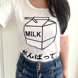 Women s Tee Milk Casual Printed On Tees Tumblr Grunge Women T Shirt Pastel  Aesthetic Girl Tops Party Art Shirts Japanese Shirt Kawaii Tshirt 489462b0fc3b