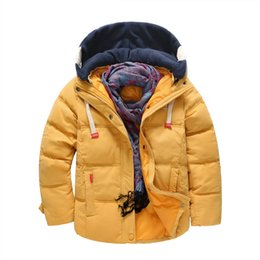 Hooded Winter Down Parkas Australia - good quality winter boys coats children boys cartoon hooded snowsuits kids warm down parkas boys casual outdoor sports jackets