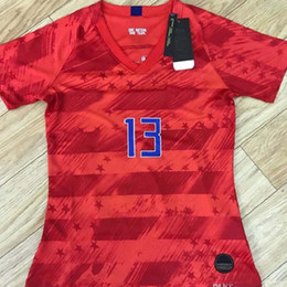 0669c0cd Top quality 2019 America MEN WOMAN KIDS Soccer Jerseys 2019 20 HOME AWAY  soccer uniform Red white Football FOOTBALL CLOTHES Size S-XL 16-28