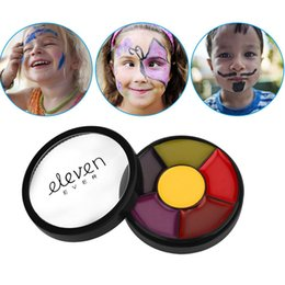 painting faces Australia - Yfashion Painting Art Palette Halloween Party Fancy Dress Beauty Makeup Tool 6 Colors Flash Tattoo Face Body Paint Oil