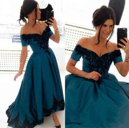prom dress strapless black lace silk Australia - Off the Shoulder Prom Dresses Long Cheap 2019 Women Hi Lo Evening Gowns Lace Applique Cocktail Party Dress Formal Gown