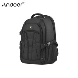 Neck Camera Australia - ccessories Parts Camera Bags Cases Andoer Professional Large Capacity DSLR Camera Backpack Waterproof Shockproof Travel Tablet Laptop Sho...
