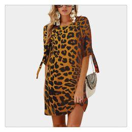 Design Patterns For Dresses Australia - Comforatable Touching Dress New Designed Women Chiffon Printed Pattern Round Neck Collar Seven Length Sleeve Varies Pattern For Girl Women