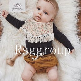 $enCountryForm.capitalKeyWord Australia - Free DHL Tassel Baby Bibs Infant Cotton Linen Burp Cloths Double Layer Newborn Bibs Kids Bandanas Geometry Animal Printed 40 Designs