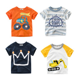 $enCountryForm.capitalKeyWord Australia - Summer Kids Boys T Shirt Crown Print Short Sleeve Baby Girls T-shirts Cotton Children's T-shirt O-neck Tee Tops Boy Clothes