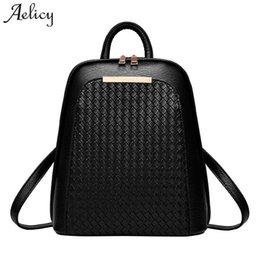 luxury backpacks women NZ - Aelicy Luxury Women Backpack New Tide Female Women Laptop Backpacks Large Capacity Pu Leather School Bags Teenager Girls Y19061004